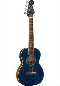 Fender Dhani Harrison Ukulele Sapphire Blue Transparent