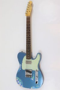 Fender Custom Shop Limited Edition Heavy Relic '60s H/S Tele Aged Lake Placid Blue over Blue Flower